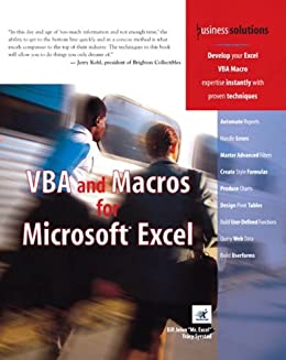 Amazon vba and macros for microsoft excel ebook tracy syrstad vba and macros for microsoft excel by syrstad tracy jelen bill fandeluxe Images