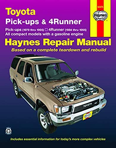 toyota pick ups (79 95), 4runner (84 95) \u0026 sr5 pick up (79 95) haynes repair manual (does not include information specific to diesel engines, t100 or 91 4Runner Wiring Diagram