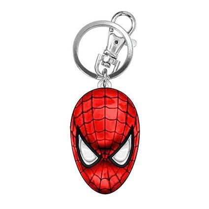 Amazon.com: Marvel Comics Spider-Man cabeza de color llavero ...