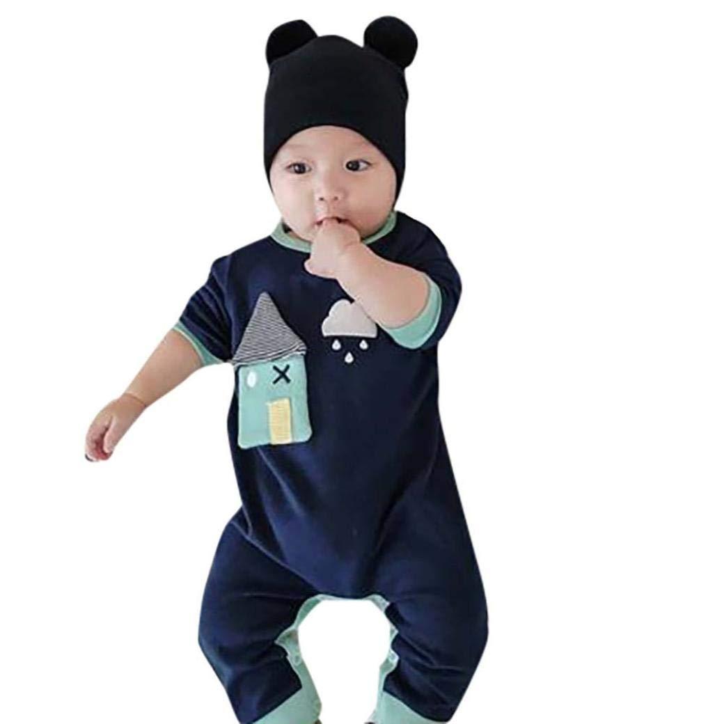 Bambini Ragazze Tute Neonati Vestiti Completo Bambini Pantaloni Vestiti Set Neonato Ragazzi Ragazze Cartoon Nube Stampa Romper Tuta Abiti Bambini Vestiti Morwind