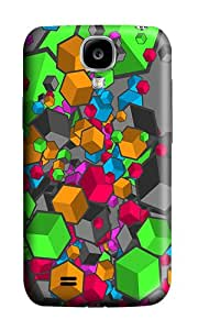 Samsung S4 Case,VUTTOO Cover With Photo: Colorful Cubes For Samsung Galaxy S4 I9500 - PC Hard Case