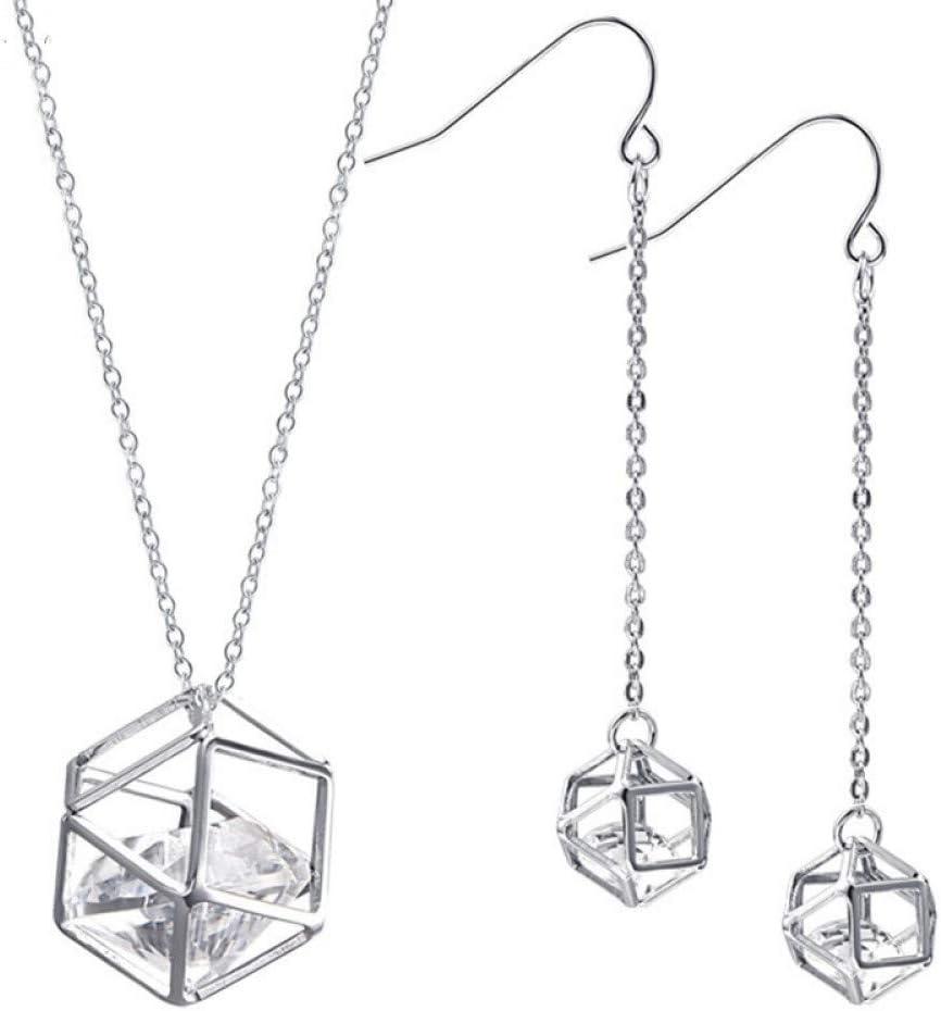 Burenqi Sencilla Astilla de Perlas Colgante de Jaula con Joyas de Diamantes de imitación de Cristal para el Partido de Compromiso de Boda de Las Mujeres