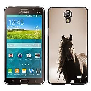 // PHONE CASE GIFT // Duro Estuche protector PC Cáscara Plástico Carcasa Funda Hard Protective Case for Samsung Galaxy Mega 2 / horse mane sepia brown animal pet /