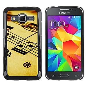 Caucho caso de Shell duro de la cubierta de accesorios de protección BY RAYDREAMMM - Samsung Galaxy Core Prime - Notas musicales