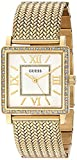 guess crystal watch - GUESS Women's U0826L2 Dressy Gold-Tone Watch with White Dial , Crystal-Accented Bezel and Mesh G-Link Band