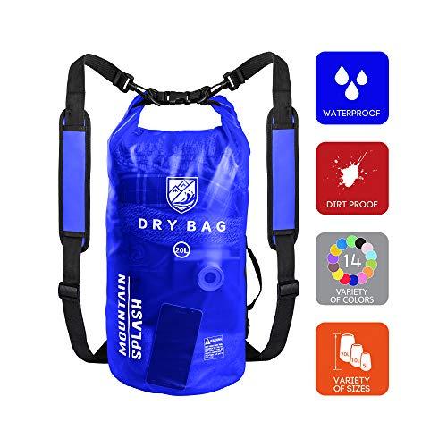 Boat Storage Bags - Waterproof Bag-Dry Bag-Waterproof Backpack-Dry Bags-Dry Sack-Dry Pack-Waterproof Bags-Kayak Bag-Boat Bag-Dry Backpack-Camping Gear Bag-Bag Waterproof-Dry Bag Backpack-Wet Dry Sack (20L, Ocean Water)