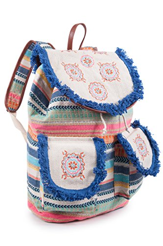 Chenson & Gorétt. Chenson & Gorétt. Mochila Étnico De Algodón Cgin09011 Color Coral(varios Colores) 36x12x40cm (lxwxh) Pink Ethnic Cotton Backpack Cgin09011 Coral Colored (various Colors) 36x12x40cm (lxwxh) Pink
