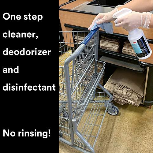 3M TB Quat Disinfectant, 1 Quart, Ready-To-Use Cleaner, Deodorizer, Disinfectant, Virucide for Floors, Walls, Metal Surfaces, Porcelain, Ceramic Tile, Plastic