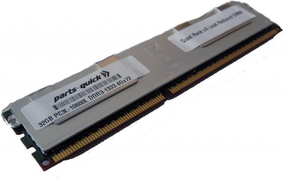 PARTS-QUICK BRAND DDR3L PC3-10600L 1333MHz ECC LRDIMM 32GB Memory for Supermicro SuperServer F627R2-RTB