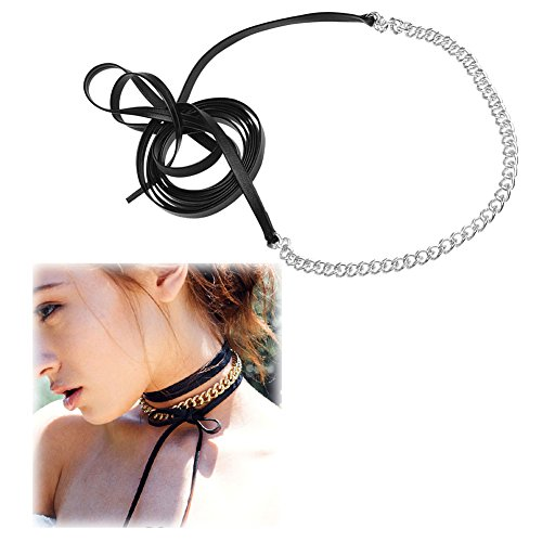 Boosic Gothic Crystal Leather Necklace