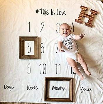 Baby Meilenstein Decke Baby Neugeborenen Foto Requisiten Fotografie Hintergrund