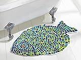 Better Trends / Pan Overseas Fish Mosaic Bath Rug, 24'' x 36'', Multicolor