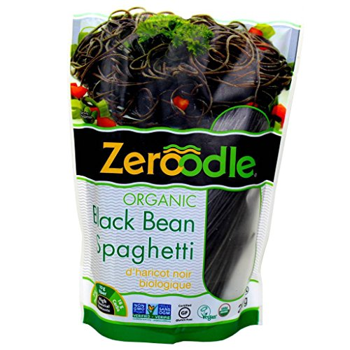Zeroodle 6-Pack Low Net Carb Gluten Free Vegan Pasta - Organic Black Bean Spaghetti Noodles - High Protein