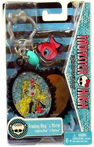 Monster High Freakey Ring Mirror Lagoona Blue Neptuna (Monster High Rings)