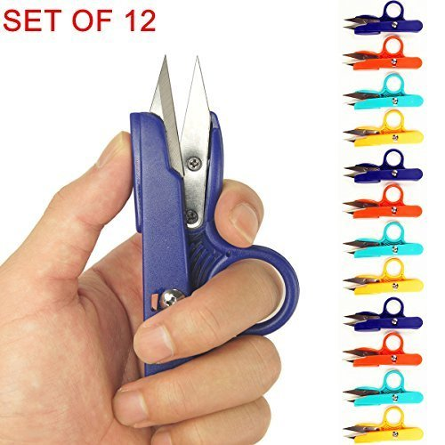 Quick Snip (Cevinee™ Grab-N-Cut Lefty/Righty Thread Snips Quick-Clip Sewing Scissors, Embroidery Yarn Cutter, Set of 12)