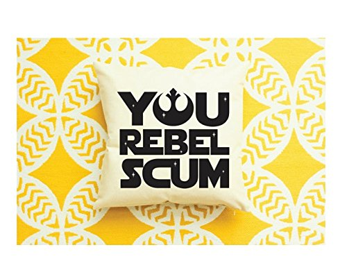 You Rebel Scum Pillow - Father's Day Gift, Stormtrooper Decor, Star Wars Funny Gift, Star Wars Gift, Stormtrooper Gift, Gift for Dad - Morphsuit Gold