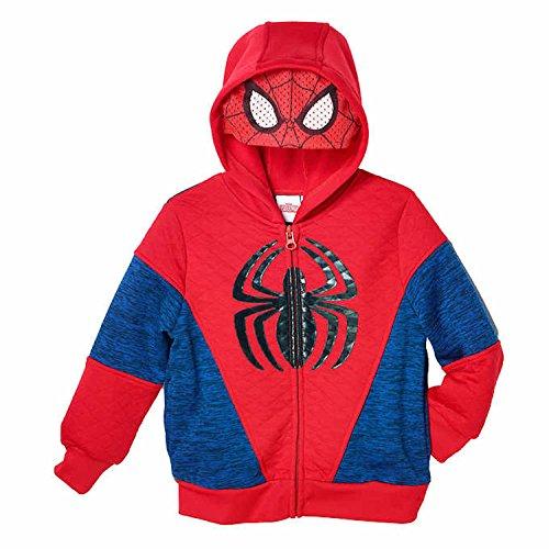 Marvel Spider Man Little Boys Toddler Fleece Zip Up Hoodie  5