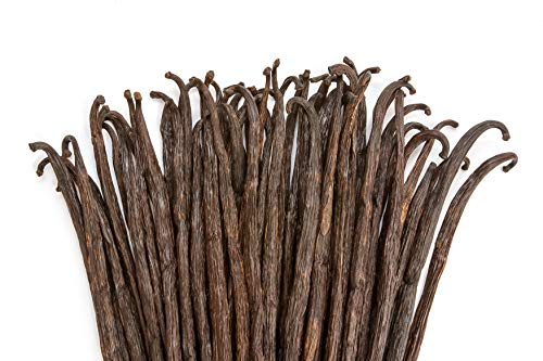 Vanilla Beans - Whole Extract Grade B Pods for Baking, Homemade Extract, Brewing, Coffee, Cooking - 1/4 LB (4 oz) | (Tahitian)