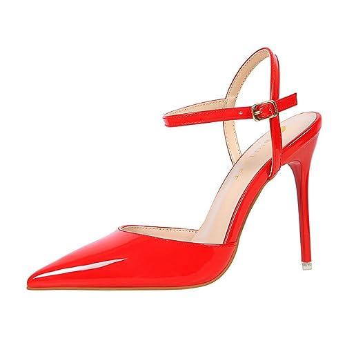 Rojo Sandalias Por Tacones Palabra Altos La Verano Es Usada Las 8wn0OPkX