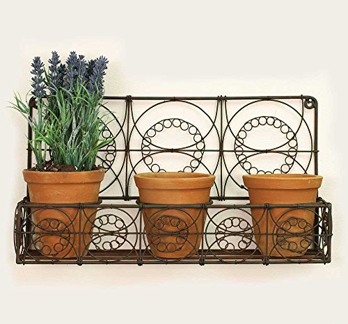 Outdoor Wall Planters Indoor Rustic Hanging Wire Wall Basket Flowers Herbs New