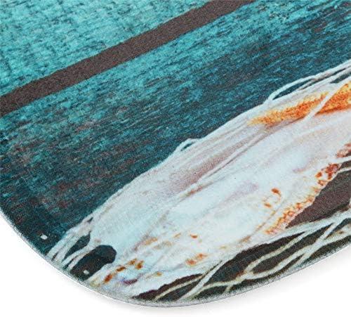 Queenwind 23x 68.5 cm シーサイドデザインフィッシングネットステアパッド滑り止めキッチンバスルーム保護カバーフロアマット