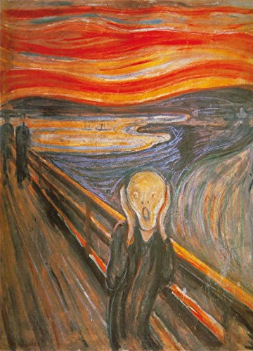 - Edvard Munch Poster Photo Wallpaper - The Scream, 1893, 2 Parts (98 x 71 inches)