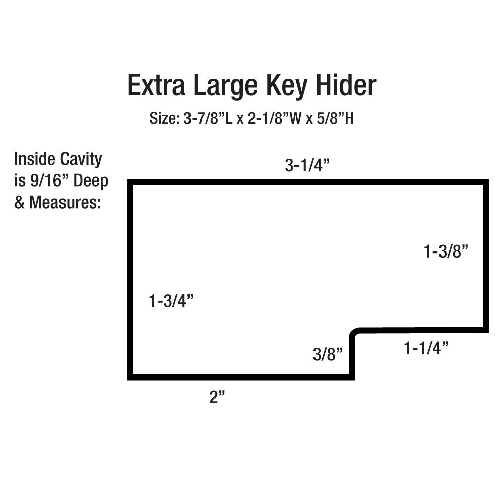 Black Extra Large Magnetic Key Hider