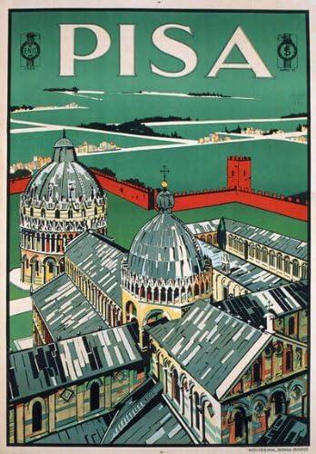 VINTAGE TUSCANY ITALY ITALIAN TRAVEL A4 POSTER PRINT