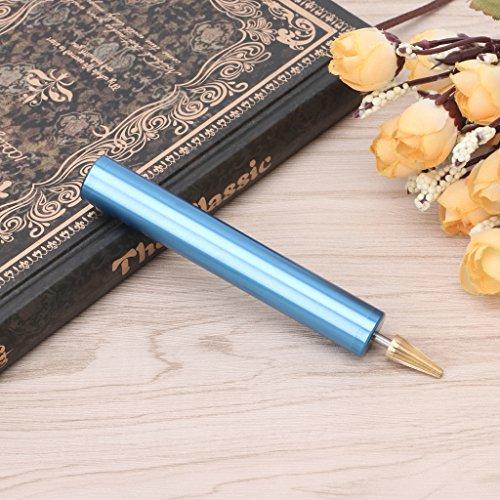 Hacloser DIY Leather Craft Edge Dye Oil Pen Applicator Brass Head Hand Treatment Tools (Blue)