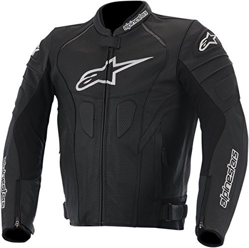 Alpinestars GP Plus R Perforated Leather Men's Riding Jacket (Black/White, Size 50)