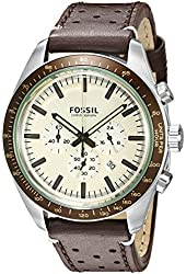 Fossil Men's CH2995 Edition Sport Chronograph Leather Watch - Dark Brown