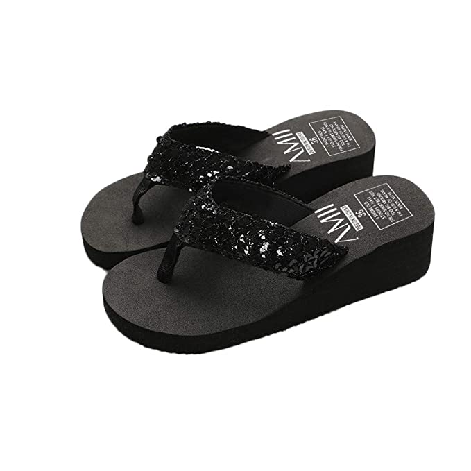 : Goddessvan Women's Summer Sequins Slipper Flip