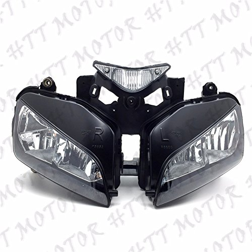 HTTMT CFP-1332-5- HEADLIGHT HEAD LAMP ASSEMBLY Compatible with 2004-2007 HONDA CBR 1000RR 1000 RR 2005 2006