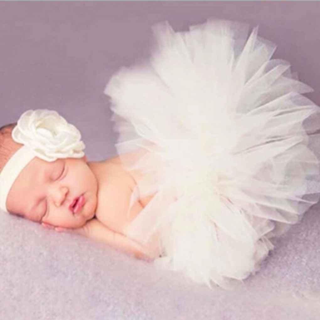 Ben-gi Cute Princess Newborn Fotografia Props Infante Costume dellattrezzatura con Girl Dress Summer Flower Fascia del Bambino