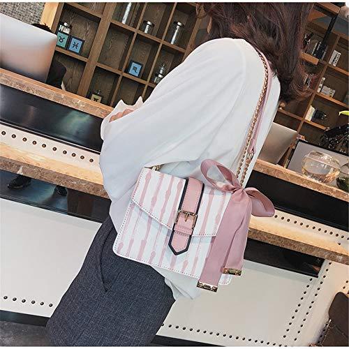 Rose Bandoulière Quotidien Main Shopping Petit Stripe Femmes Pour Dos À Carrés Voyage Parti Le Sac Foulards SZqTwH1U