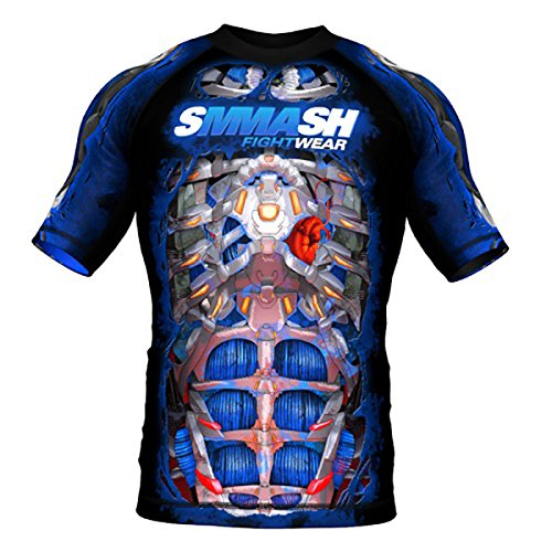 Image of SMMASH Short Sleeve Rashguard FIGHT MACHINE ELECTRIC