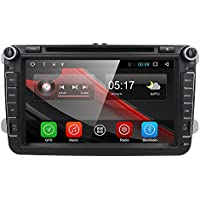 Android 6.0 Quad Core 8 Double 2 Din Car in Dash DVD Player GPS Radio Stereo Navi Bluetooth for VW Volkswagen