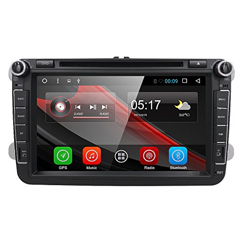 HIZPO 8' Android 6.0 HD Digital Multi-touch Screen 1080P Video Car DVD...