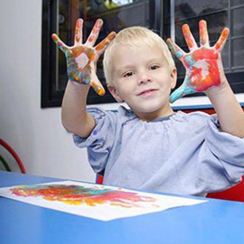 Happlee Washable Kid's Paint ,Finger paints & Stamps, Washable Kids finger Painting set of 10 Bottles, Eco Kids Non-Toxic Natural Paint (10 Count)