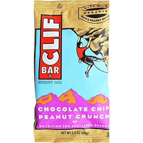 Clif Bar, 2.4 Ounce – Organic Chocolate Chip Peanut Crunch (8 Pack)