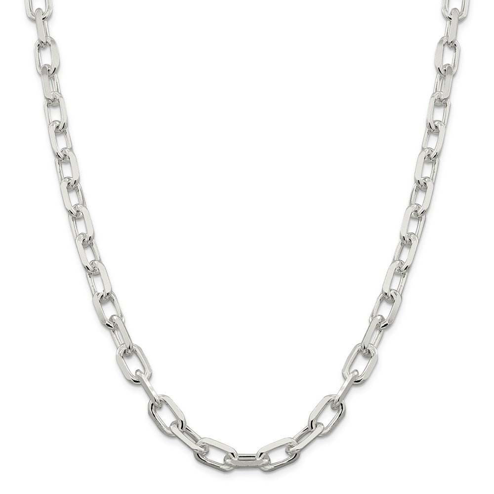 Best Birthday Gift Sterling Silver 9mm Fancy Diamond-cut Open Link Cable Chain