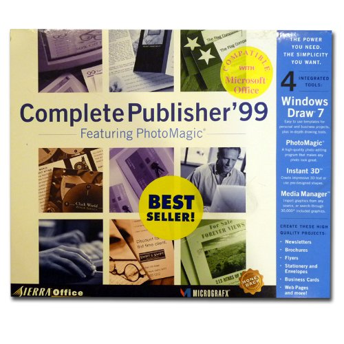 Sierra Office Complete Publisher '99 Featuring Photomagic, Windows Draw 7, Instant 3d, and Media Manager
