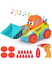 Elover Take Apart Toys Racing Car Assembling Truck Construction Toys Build Your Own Car with Drilling Screws Tool Toys for 3 Years Old Boys