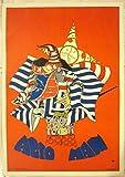 VINTAGE 1967 CONCERT POSTER - ACID MAN - CRAZY COLORFUL MISH MASH ARTWORK