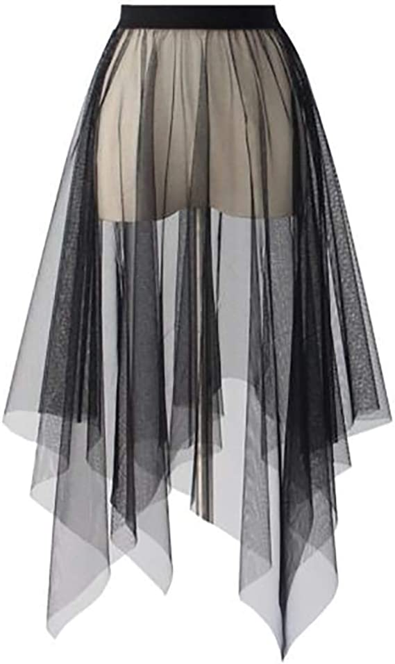 Polka dot skirt transparent skirt over skirt sheer skirt evening skirt formal skirt holiday skirt black tulle skirt mesh skirt
