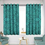 Simple Curtains Seamless Floral Pattern Abstract Design for Wallpaper Textile Print Interior Design Vector Illustration Space Decorations W 55' XL 63'