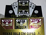 Copag 100% Plastic Playing Cards - Texas Hold 'Em Poker Size Jumbo Index Red/Black - 12 Decks