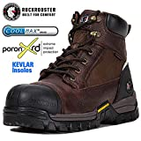 ROCKROOSTER Composite Toe Work Boots for Men, Soft Toe Waterproof Safety Working Shoes