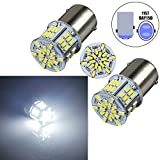 Bulbeats 800 Lumens 2pcs 54-BX Chipsets 1157 2057 2357 7528 1016 1334 BAY15D LED Bulbs with Projector Interior RV Camper Brake tail light Xenon White 6000K