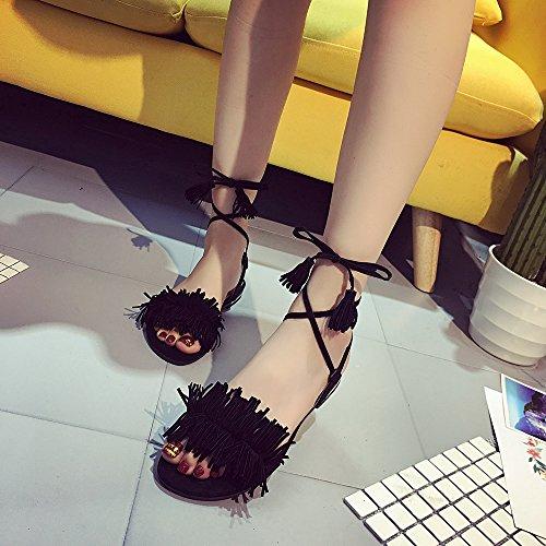 Noir Femme Noir Sandales Sandales pour Aelegant pour Aelegant Aelegant Femme Sandales 7qXzv